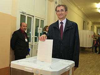 Николай Левичев проголосовал на выборах мэра Москвы