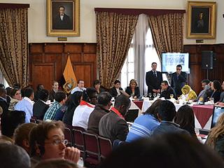 Лидеры 'Справедливой Силы' приняли участие в деловом завтраке в МИДе Эквадора