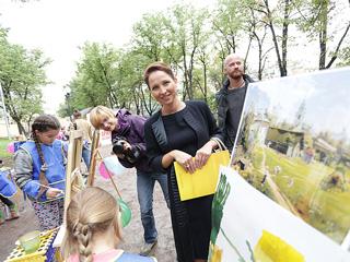 27 августа на Гоголевском бульваре прошло художественное мероприятие 'Рисуем Старую Москву'