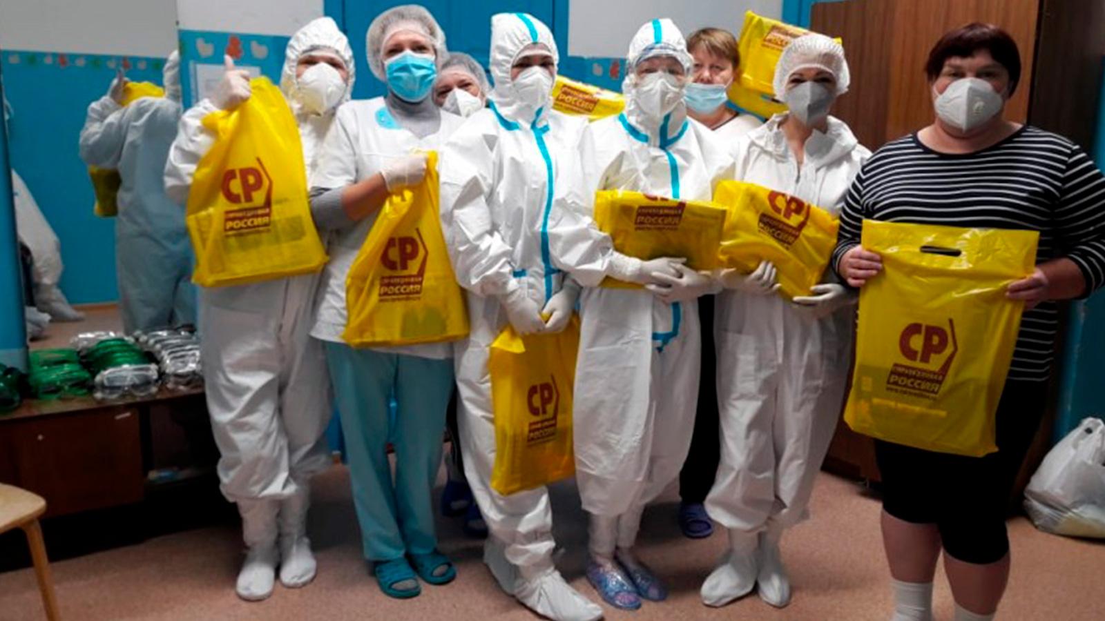 Алтайский край: стартовала акция СР по поздравлению медиков с Новым годом